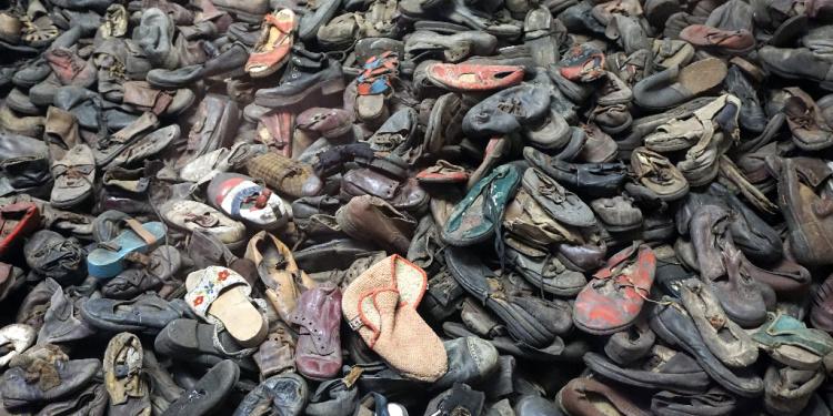 Children's shoes at Auschwitz