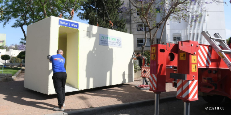 Fellowship bomb shelters being placed in Israel