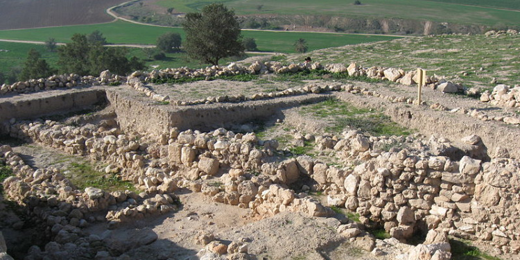 Archaeology site of Tel Tzafit, biblical city of Gath, home of Goliath