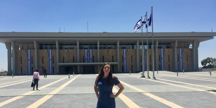 Claire Nance at Knesset