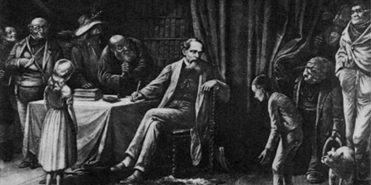Charles Dickens and his literary characters