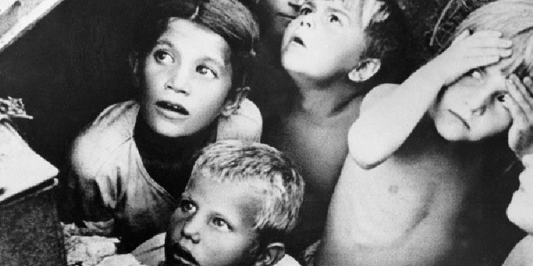 Russian children during WWII who suffered through air raids and famine