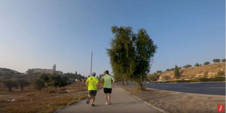 Running to Rachel's Tomb