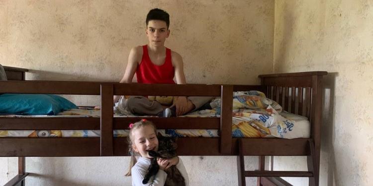 Jewish children receive new bed to sleep in