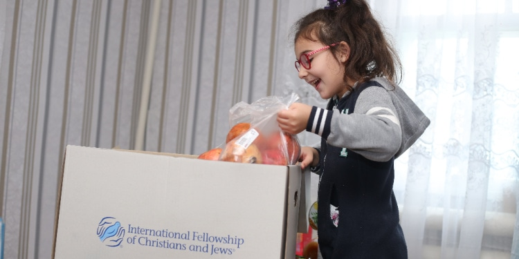 Better times lay ahead for Sophia, whose impoverished family receives a Fellowship food box