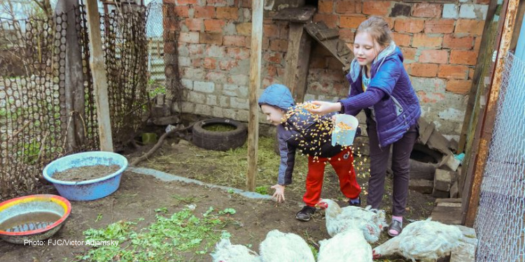 Alina and Vladislav, children in Ukraine have food and faith thanks to The Fellowship