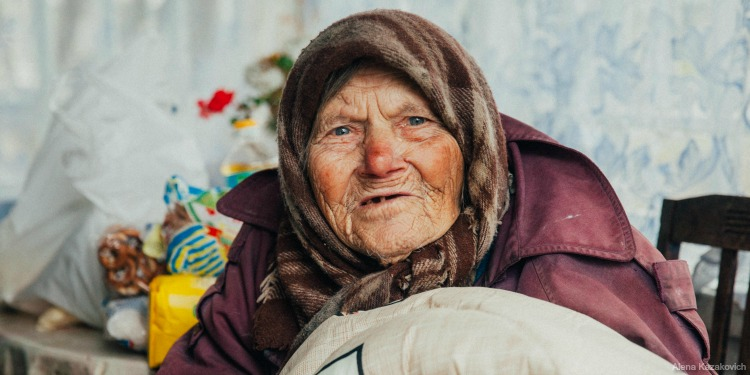 Cold, elderly Jewish woman named Maria who needs your help