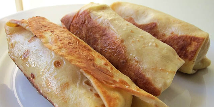 Traditional Jewish Blintzes deep fried on a plate